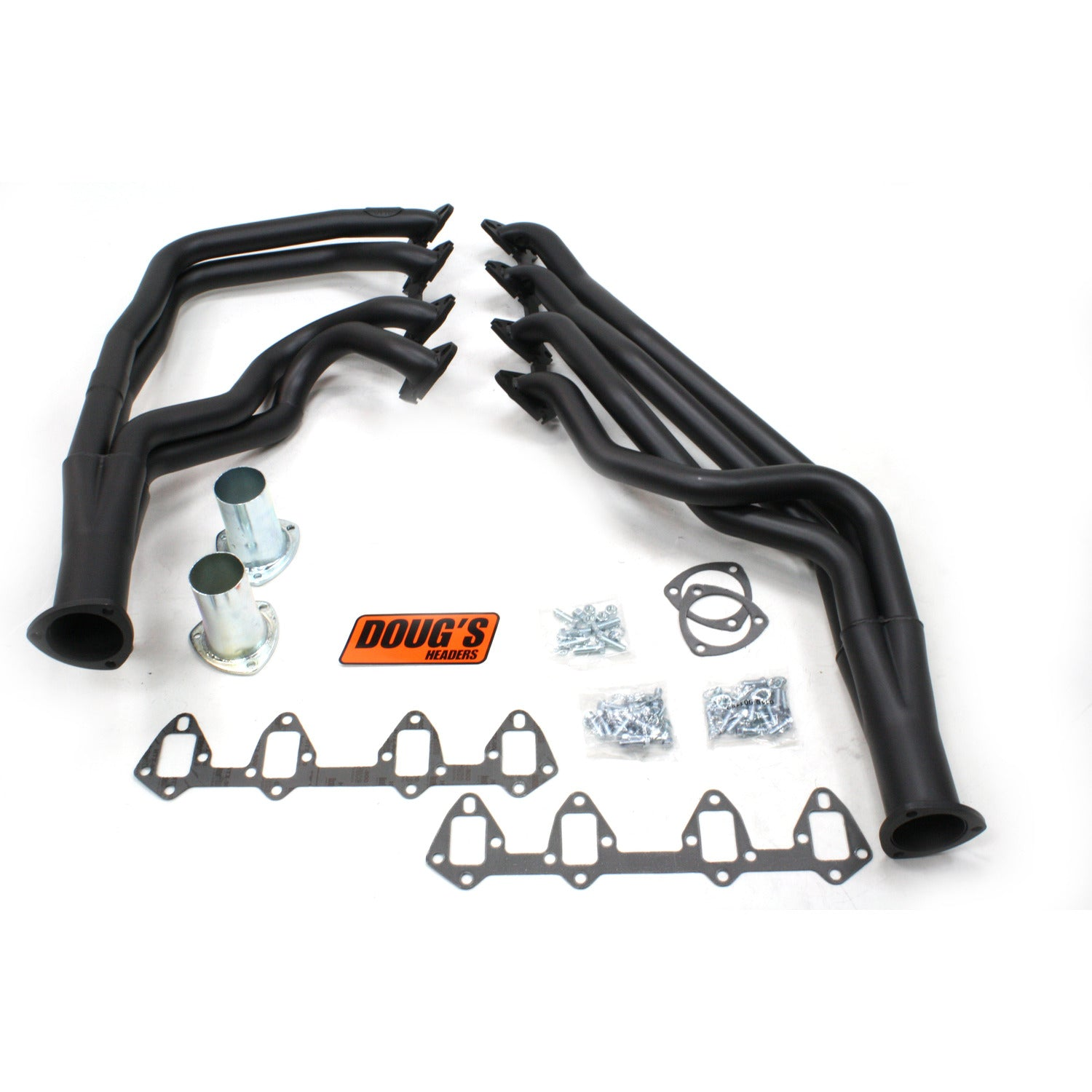 "Doug's Headers D625-B 1 3/4"" 4-Tube Full Length Header Ford Fairlane FE 64-73 Hi-Temp Black Coating"