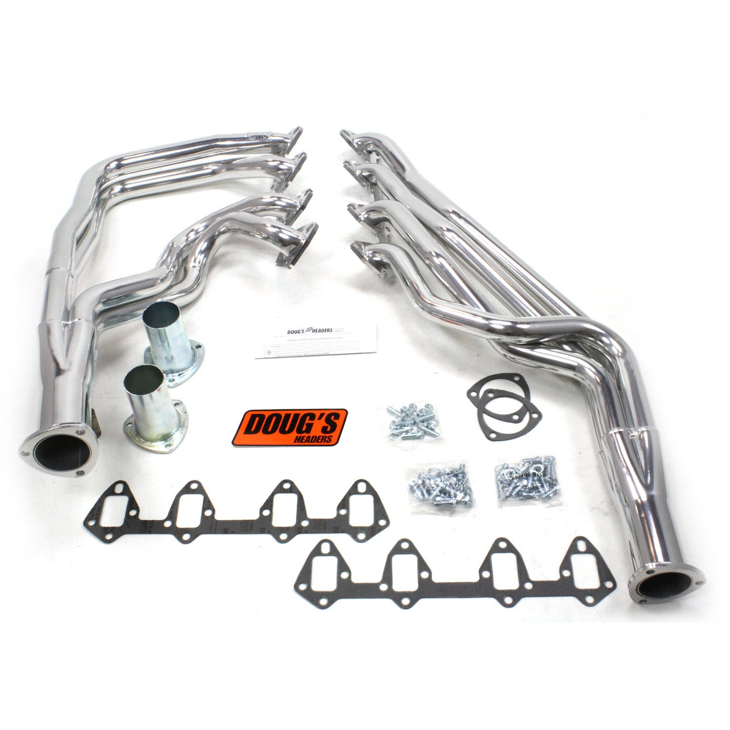 "Doug's Headers D625 1 3/4"" 4-Tube Full Length Header Ford Fairlane FE 64-73 Metallic Ceramic Coating"