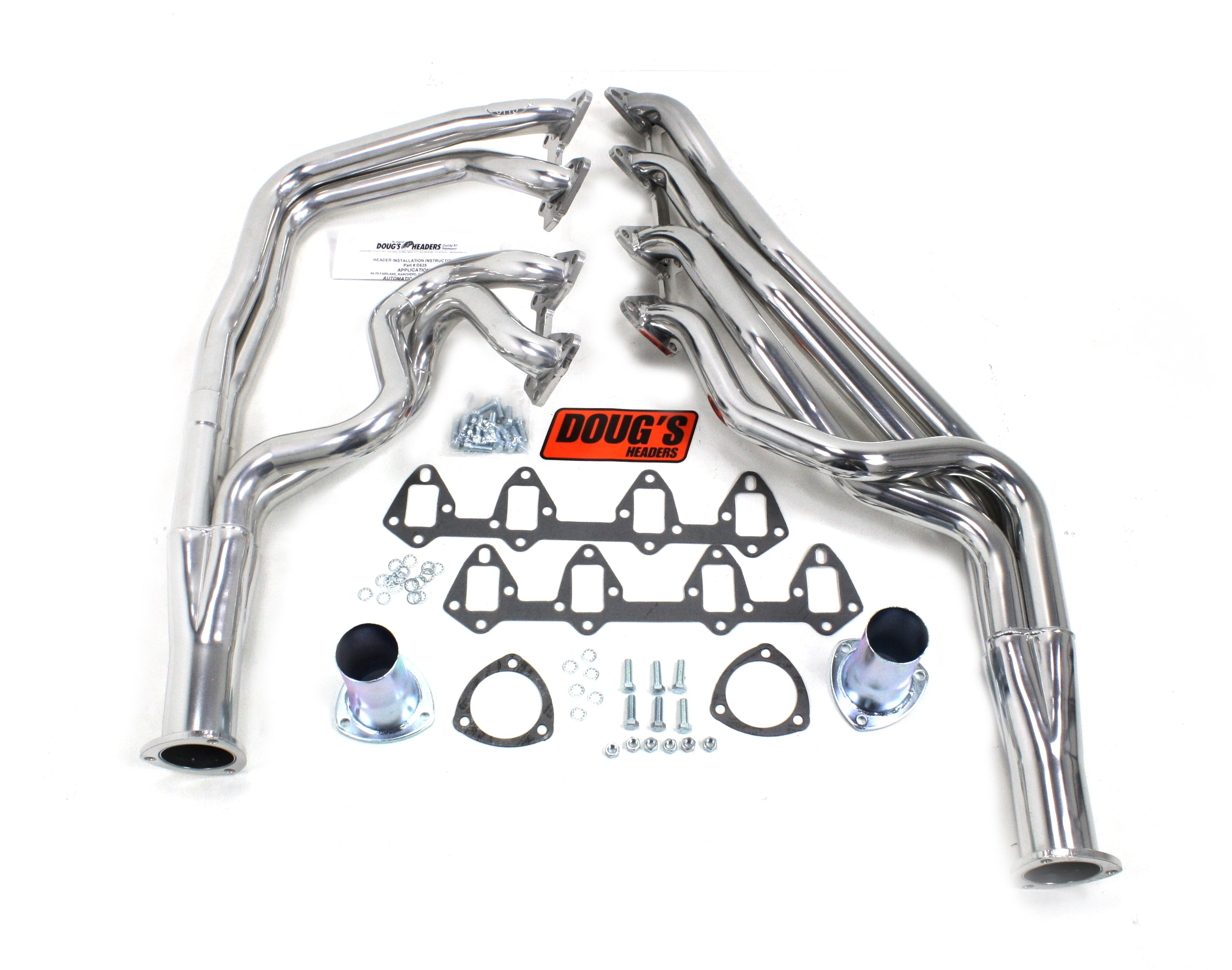 "Doug's Headers D625S 1 3/4"" 4-Tube Full Length Header Ford Fairlane 66-70 FE 390-428 Manual Only Metallic Ceramic Coating"