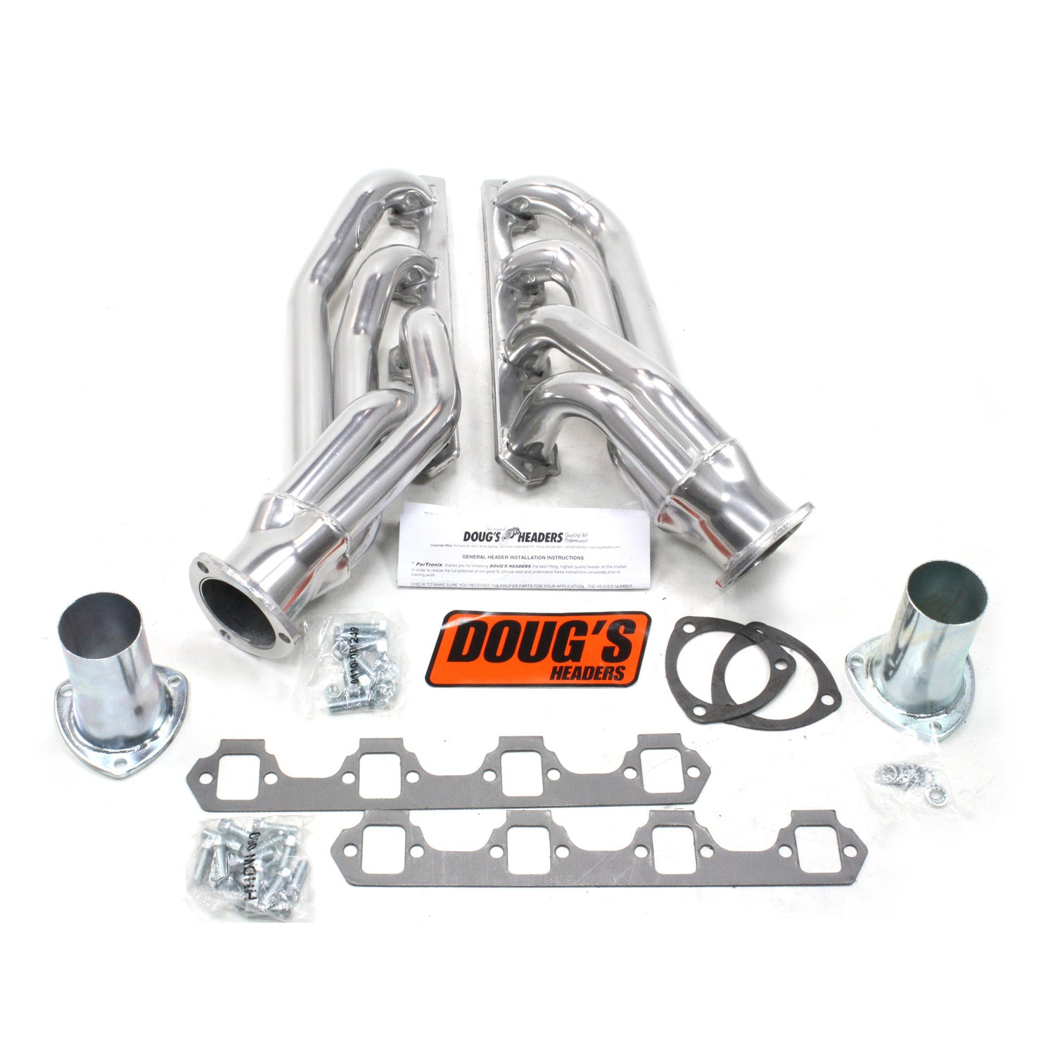 "Doug's Headers D665 1 5/8"" 4-Tube Shorty Header Ford Mustang Small Block Ford 64-73 Metallic Ceramic Coating"