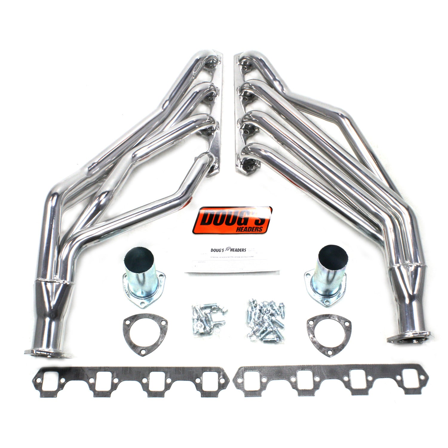 "Doug's Headers D668 1 5/8"" 4-Tube Full Length Header Ford Mustang Small Block Ford 64-73 Metallic Ceramic Coating"