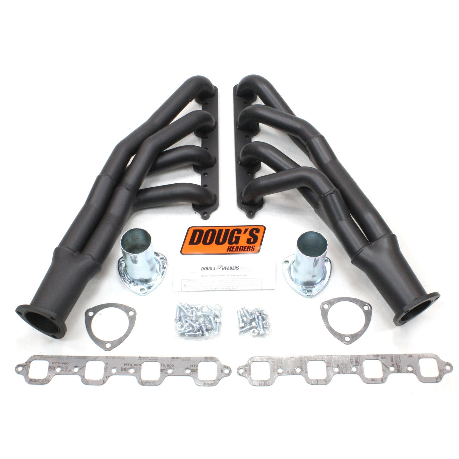 "Doug's Headers D669Y-1B 1 3/4"" Tri-Y Header Ford Mustang 351W 67-70 Hi-Temp Black Coating"