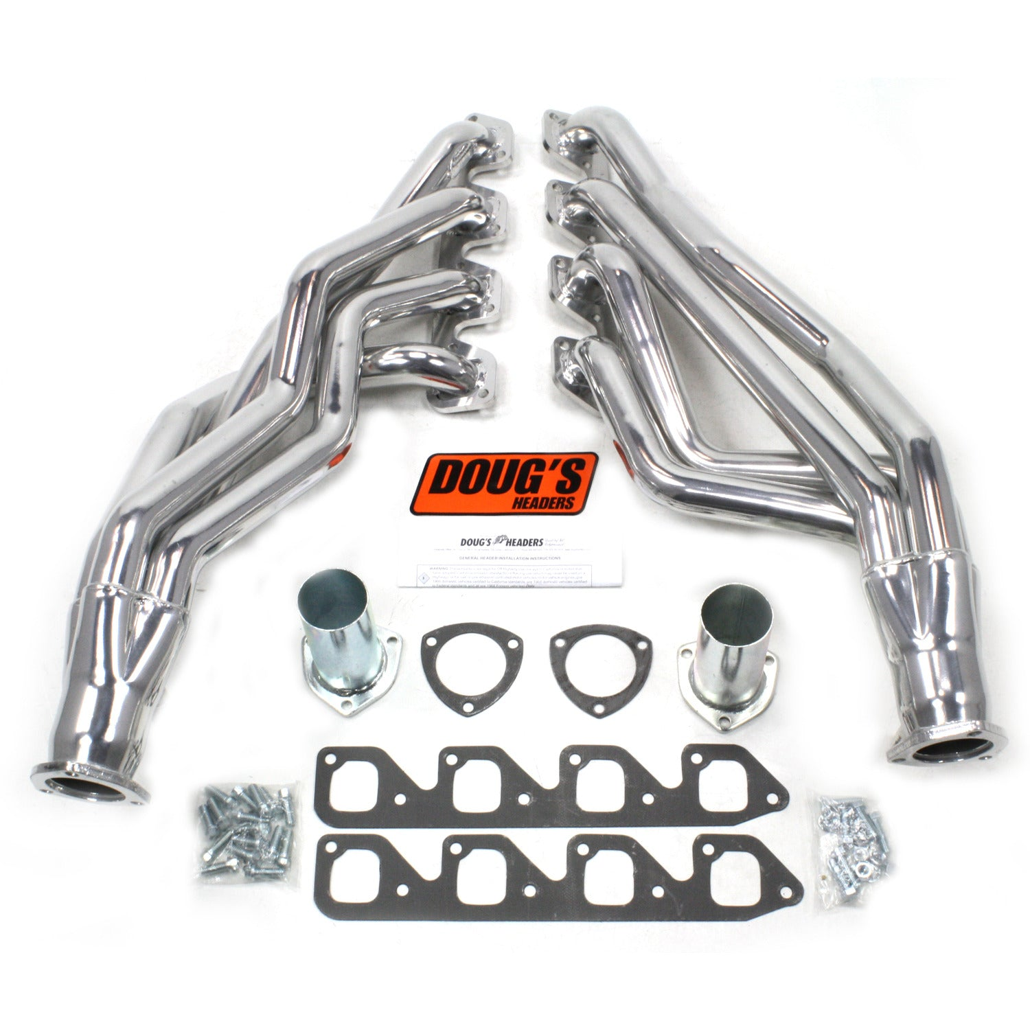 "Doug's Headers D670A4 1 3/4"" 4-Tube Full Length Header Ford Mustang 351C 67-70 Metallic Ceramic Coating"