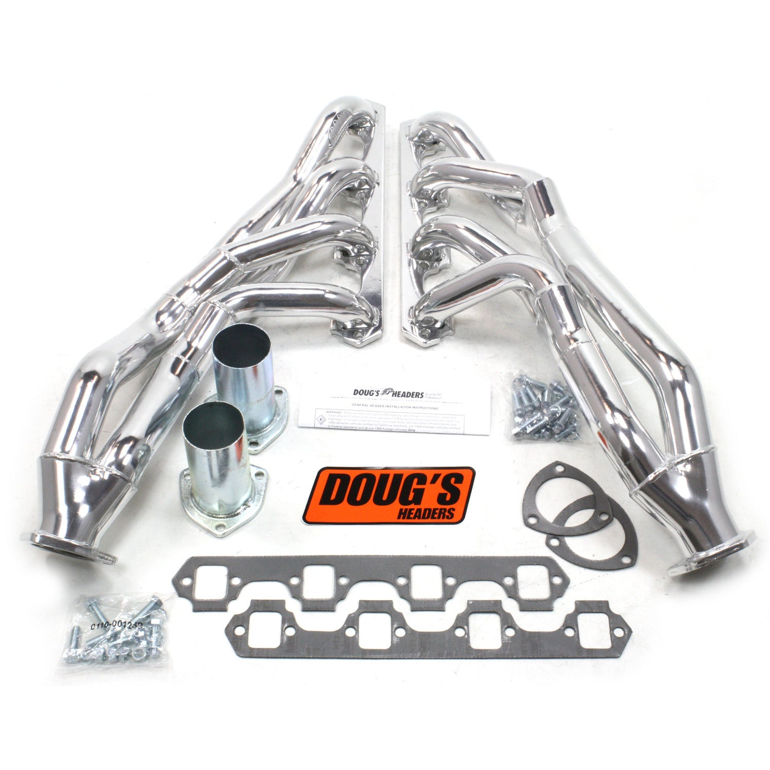 "Doug's Headers D690YA 1 5/8"" Tri-Y Header Ford Mustang Small Block Ford 64-70 Metallic Ceramic Coating"