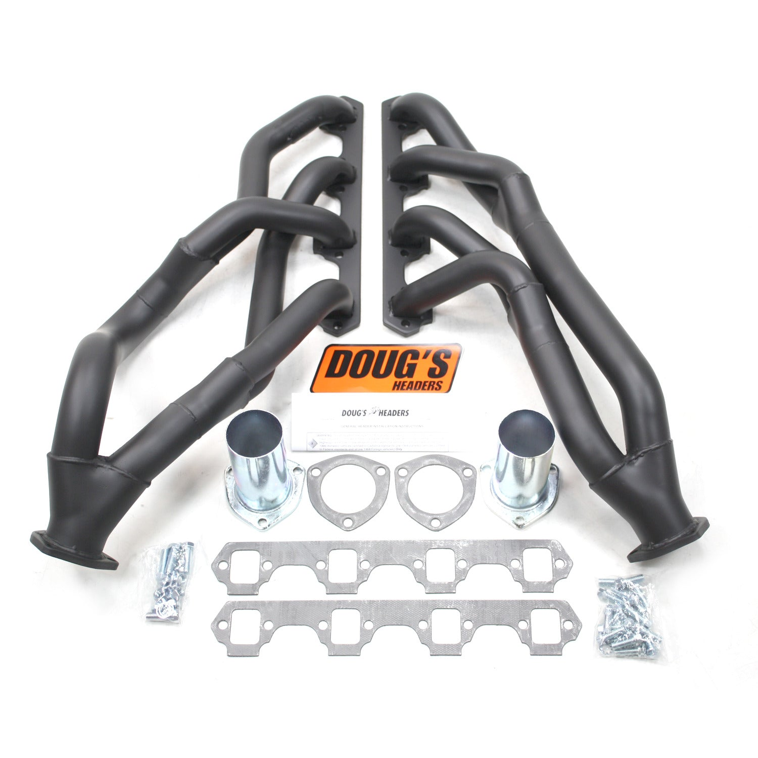 "Doug's Headers D690YS-B 1 5/8"" Tri-Y Header Ford Mustang Small Block Ford 64-70 Hi-Temp Black Coating"