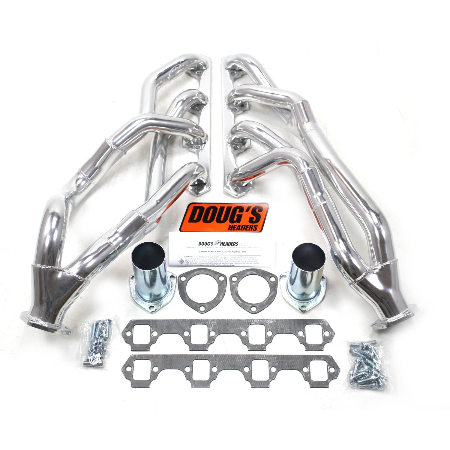 "Doug's Headers D690YS 1 5/8"" Tri-Y Header Ford Mustang Small Block Ford 64-70 Metallic Ceramic Coating"