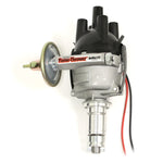 PerTronix D7172420 Flame-Thrower Electronic Distributor Top Exit Cast British 25D Plug and Play with Ignitor III Vac Adv