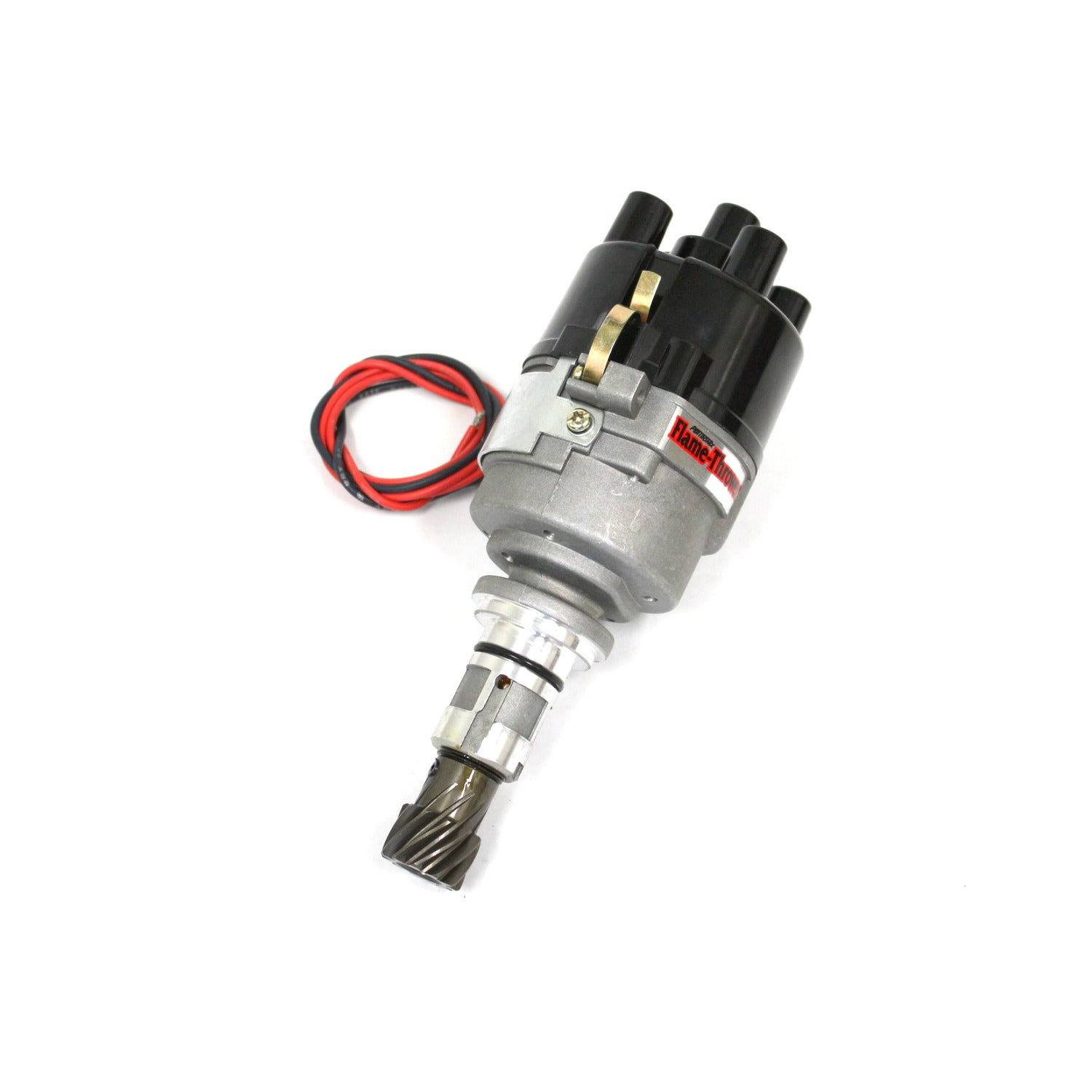 PerTronix D7190500 Flame-Thrower Electronic Distributor Top Exit Cast Ford X-Flow Plug and Play with Ignitor III Non Vac Adv