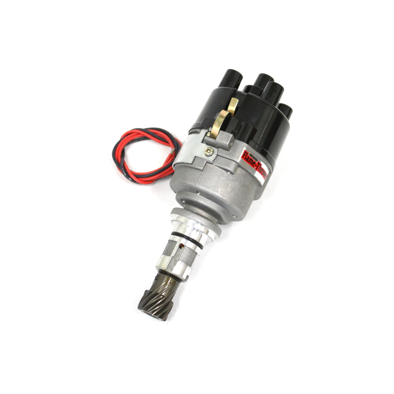 PerTronix D7190509 Flame-Thrower Electronic Distributor Side Exit Cast Ford X-Flow Plug and Play with Ignitor III Non Vac Adv