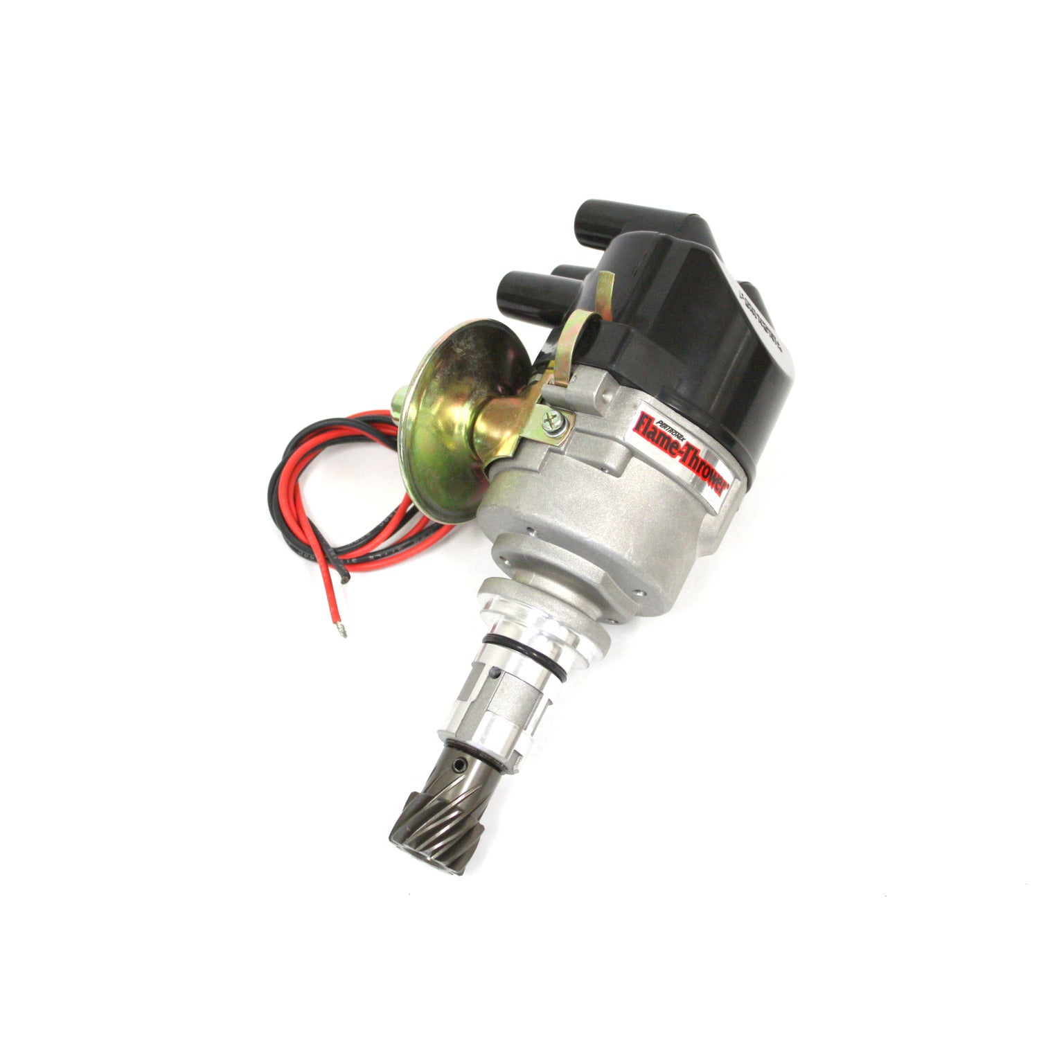 PerTronix D7190609 Flame-Thrower Electronic Distributor Side Exit Cast Ford X-Flow Plug and Play with Ignitor III Vac Adv