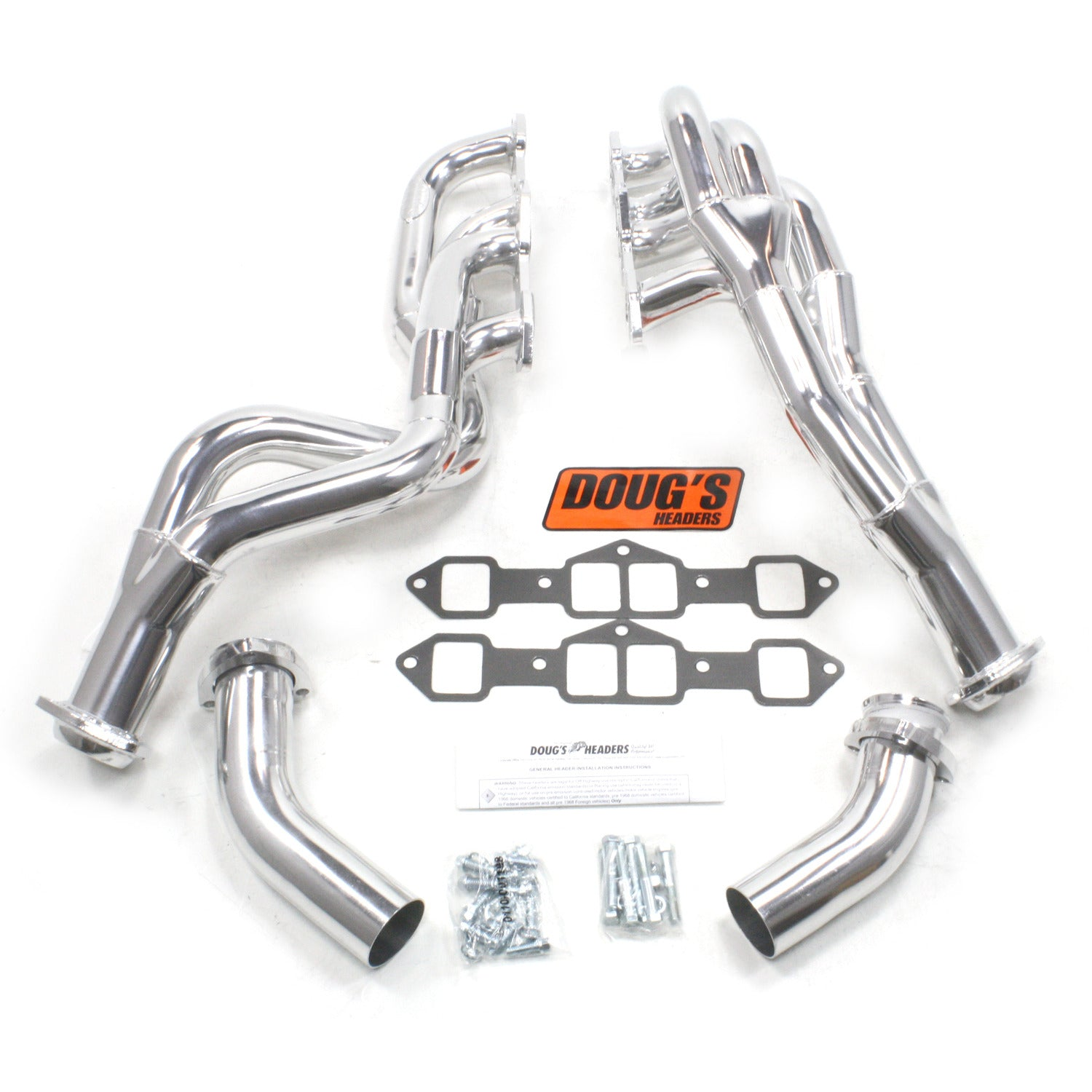 "Doug's Headers D755Y 1 3/4"" Tri-Y Header Oldsmobile Motor Home 455 73-78 Metallic Ceramic Metallic Ceramic Coating"