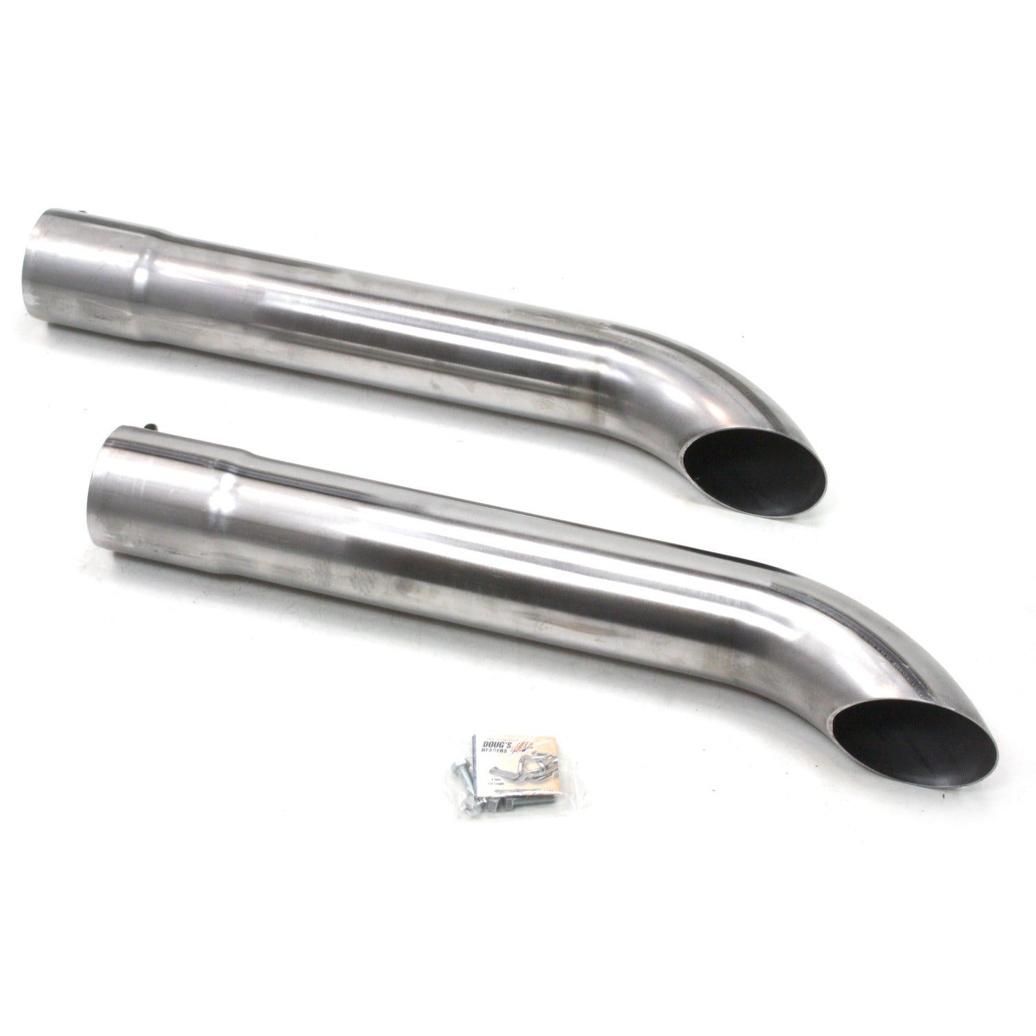 "Patriot Exhaust H3821 Side Tubes 26"" Turnout Muffler Raw Steel"