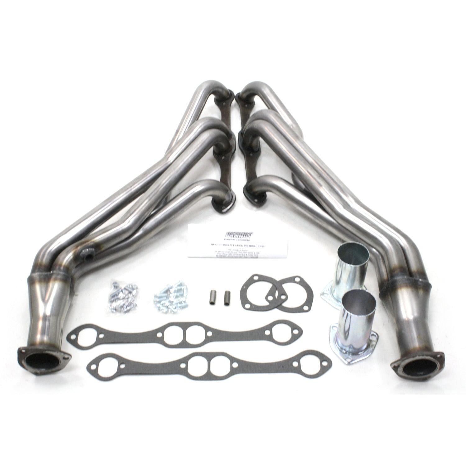 "Patriot Exhaust H8059 1 5/8"" Header Truck Small Block Chevrolet 2/4 Wheel Drive 88-98 Raw Steel"