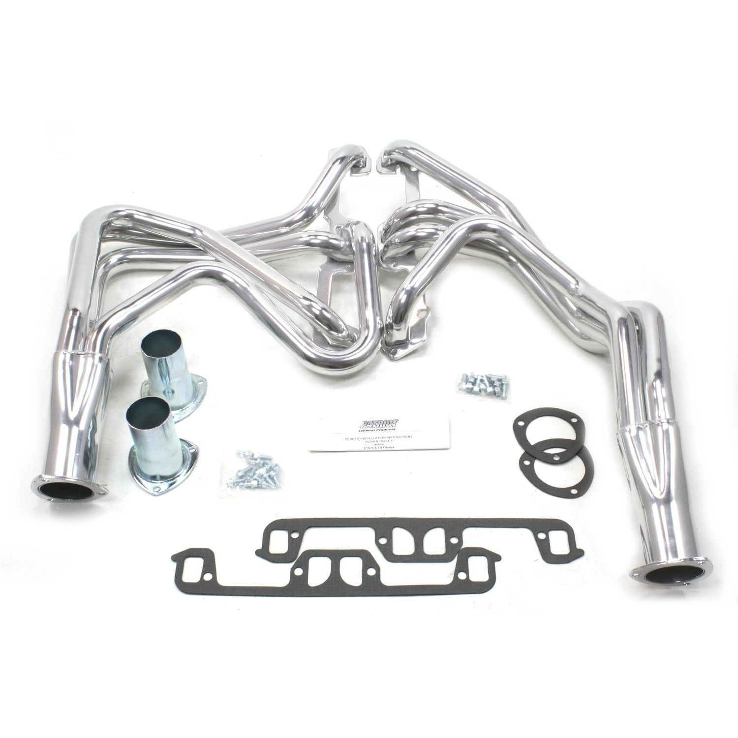"Patriot Exhaust H8206-1 1 5/8"" Full Length Header Mopar A Body Small Block Mopar 67-82 Metallic Ceramic Coating"