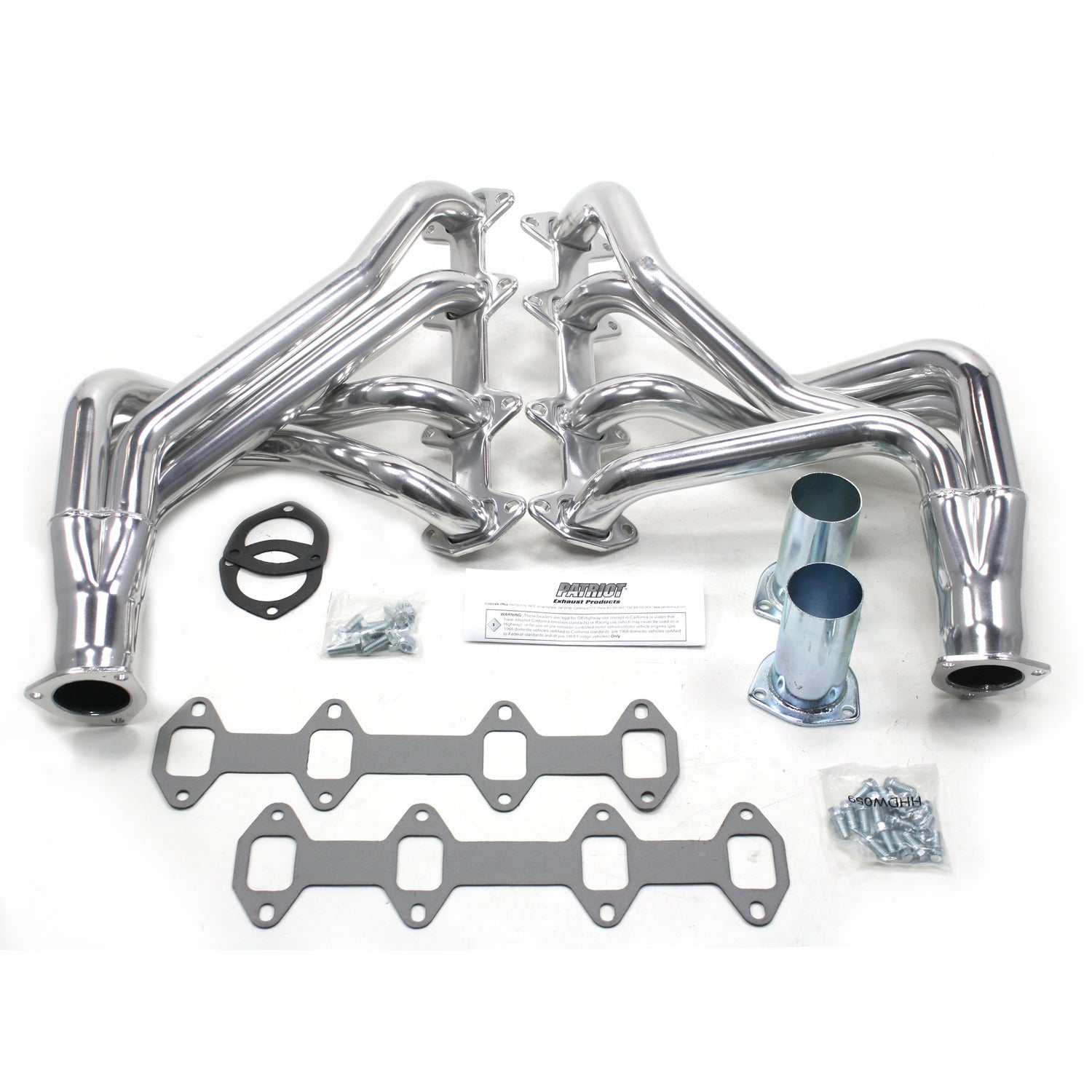"Patriot Exhaust H8406-1 1 3/4"" Full Length Header Ford Truck FE 65-76 Metallic Ceramic Coating"