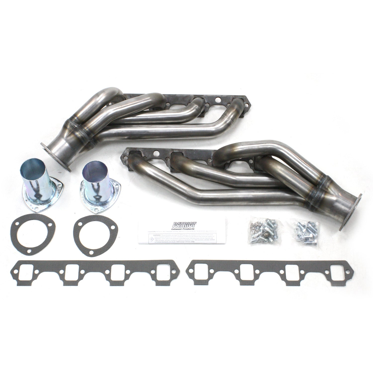 "Patriot Exhaust H8433 1 5/8"" Clippster Header Ford Mustang Small Block Ford 64-73 Raw Steel"