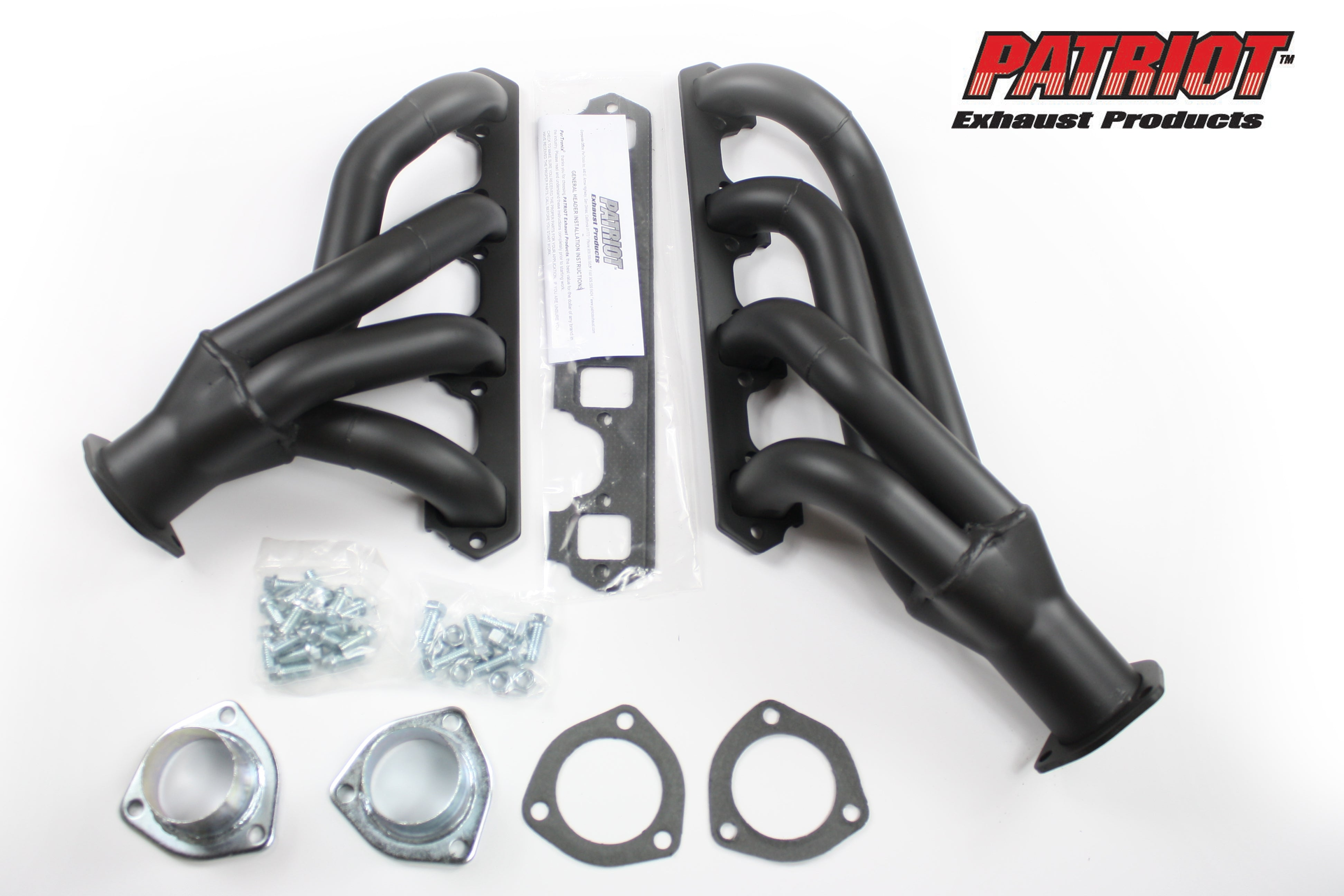 "Patriot Exhaust H8434-B 1 5/8"" Clippster Header Ford Falcon, Ranchero, Mercury Comet Small Block Ford 60-65 Hi-Temp Black Coating"