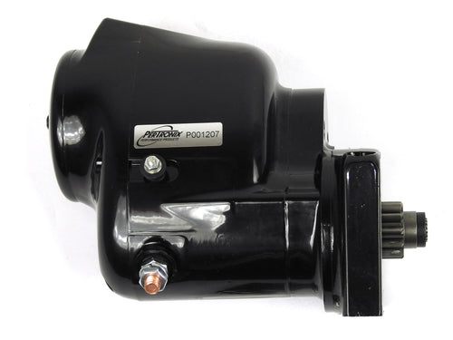 Pertronix part number S3000B-M Contour Marine Starter 1964-2000 Chevrolet SB/BB, 153T and 168T flywheels, 1963-74 L6 (230, 250, 292 engines) with straight botl pattern, black finish
