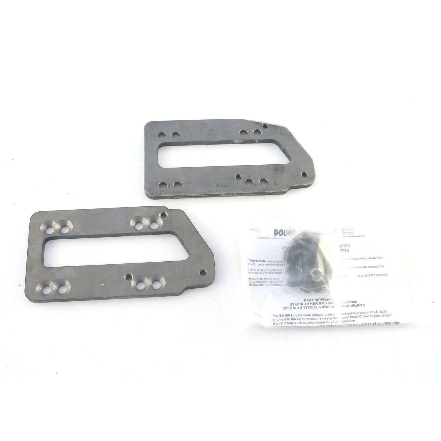 Doug's Headers SK100 Motor Mount Adaptor Plate Kit for LS1/LS6 GM engines into 67-81 Camaro 64-72 Chevelle