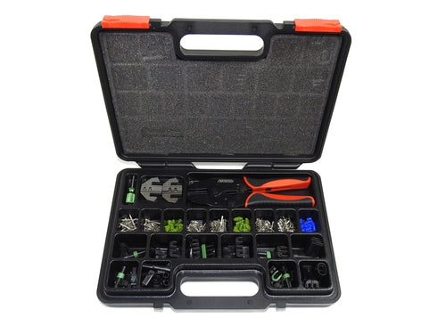 Weather Pack Quick Change Crimp Tool & Connector Kit (220 pcs)
