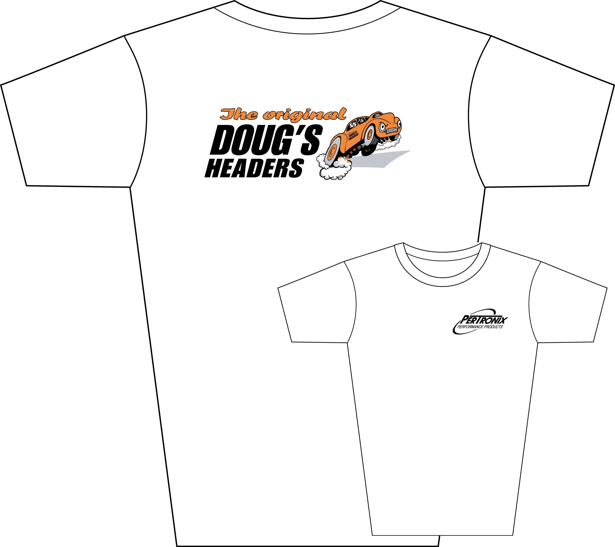 Doug's Headers TS101 Tee Shirt White Medium