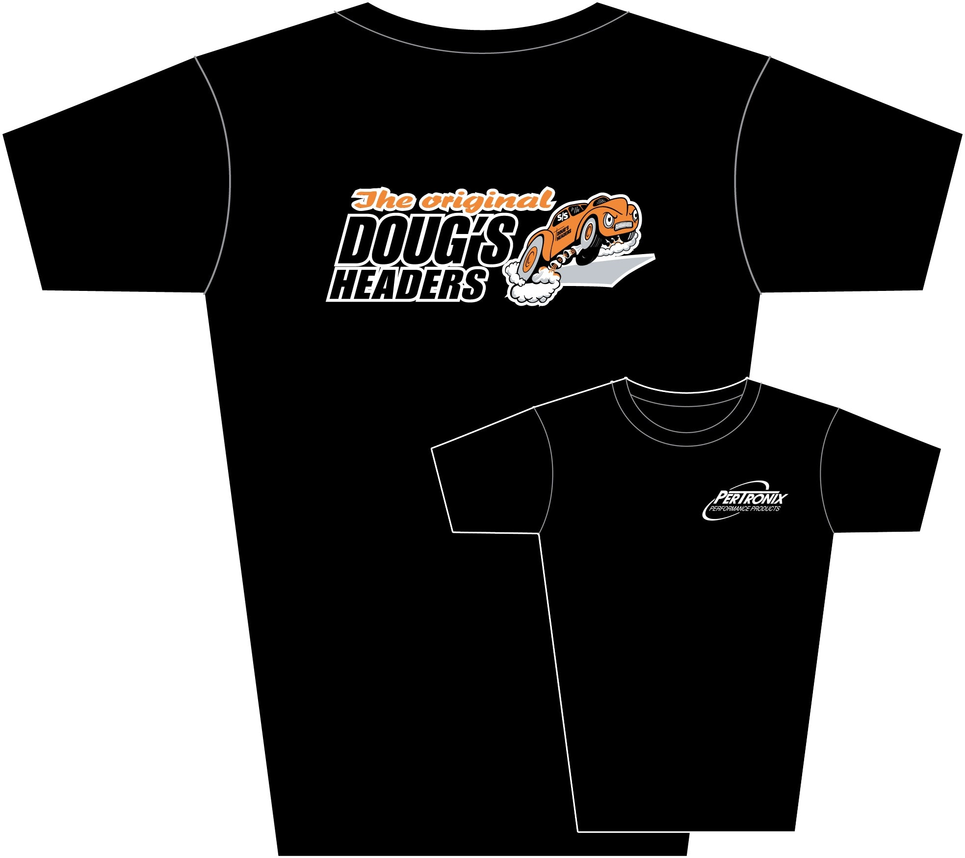 Doug's Headers TS201 Tee Shirt Black Medium
