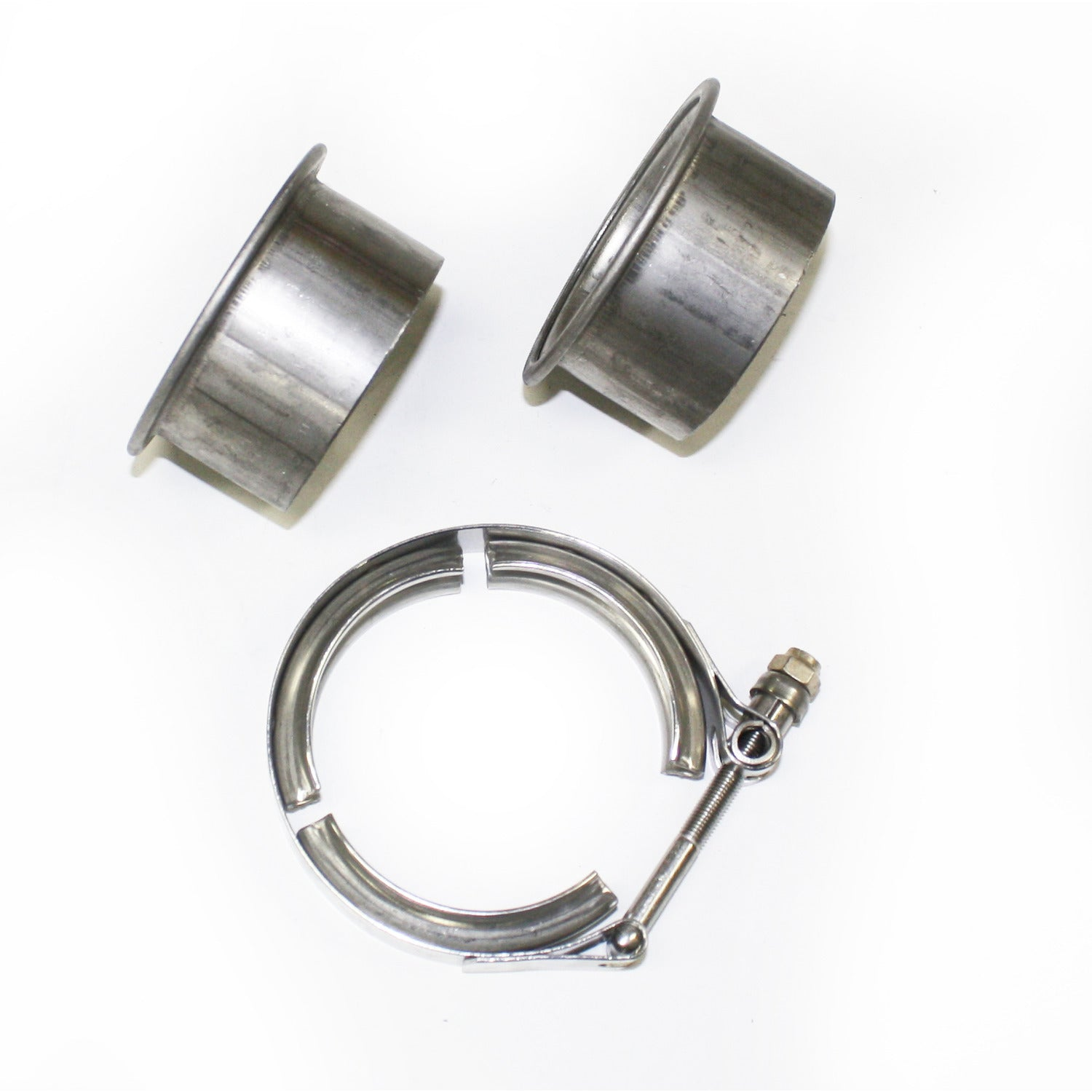 "JBA Performance Exhaust VB25 2.5"" Stainless Steel V-Band clamp and flanges"
