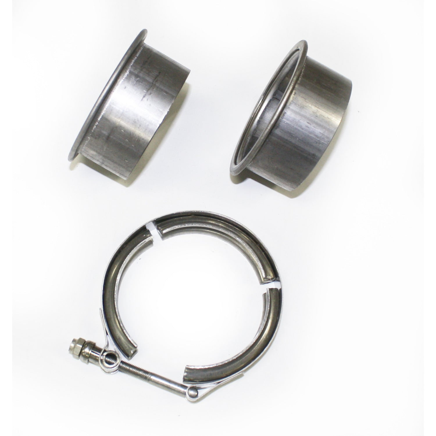 "JBA Performance Exhaust VB30 3"" Stainless Steel V-Band clamp and flanges"