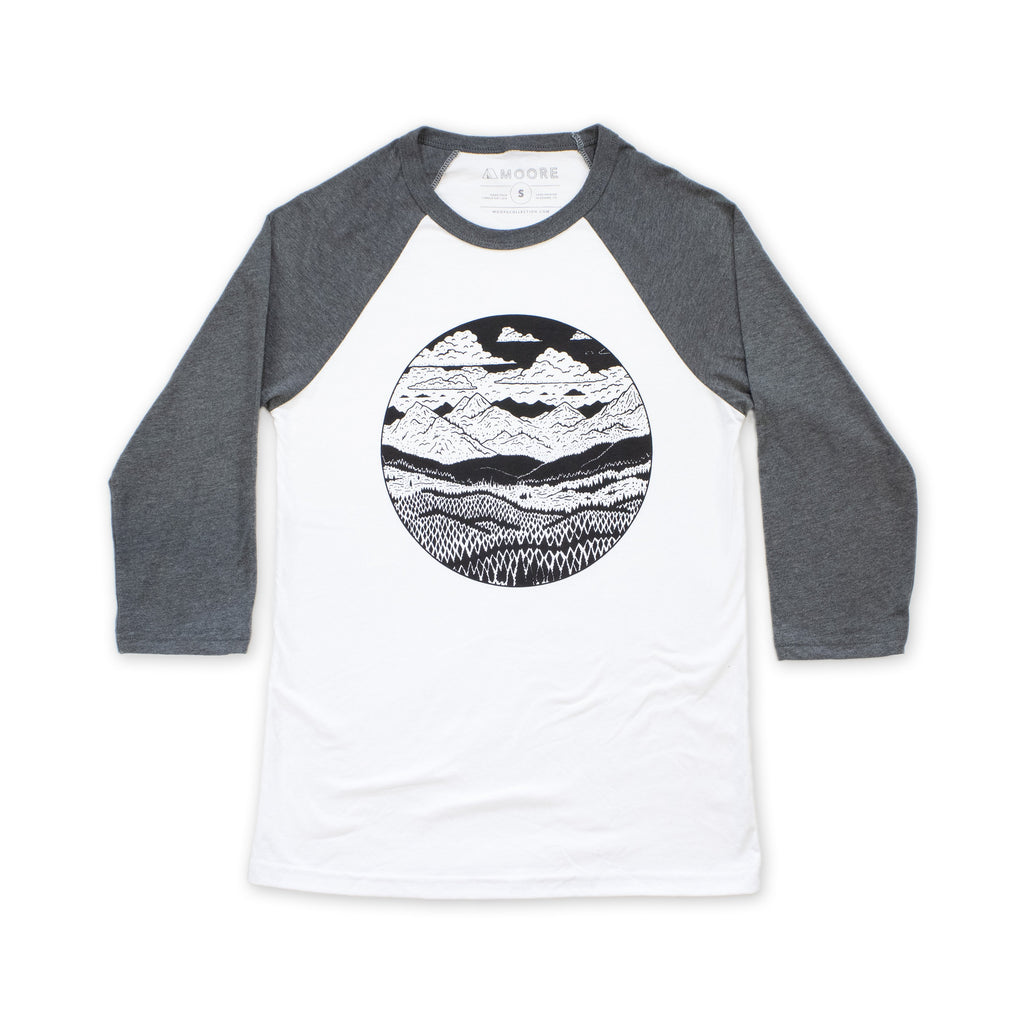 Mountain Range Baseball Tee-AcDrift