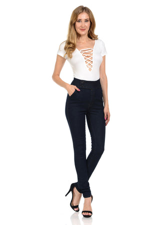 Open image in slideshow, Diamante Women's Jeans - Push Up - 7318HW-AcDrift
