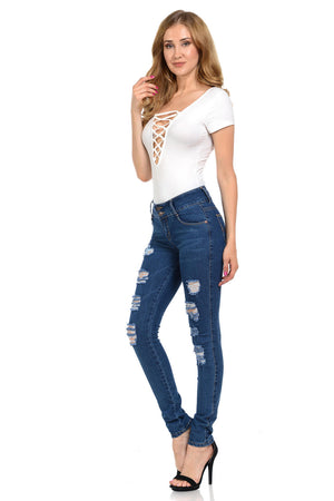 Diamante Women's Jeans - Push Up - WG450-R-AcDrift