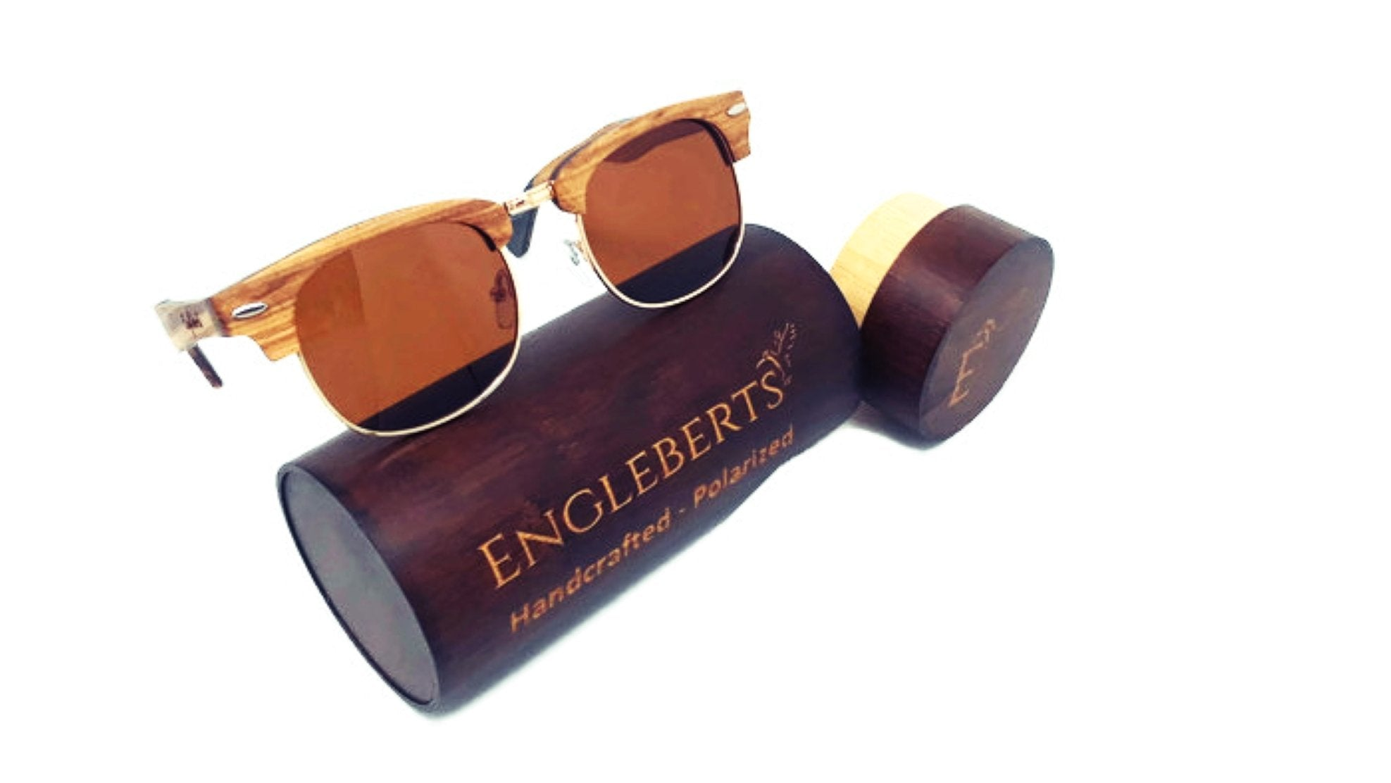 Real Ebony and ZebraWood Sunglasses With Wood Case-AcDrift