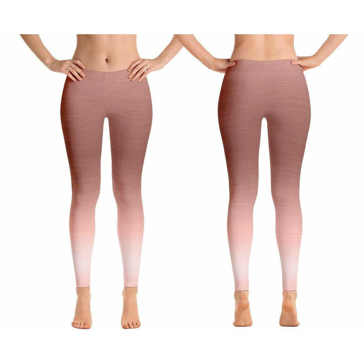 Seamless Rose Gold Ombre Leggings-AcDrift