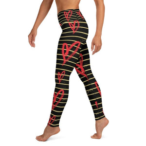 Open image in slideshow, Valentine Hearts High Waist Leggings-AcDrift