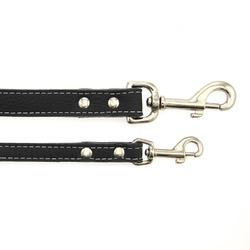Image of Tuscan Leather Dog Leash by Auburn Leather - Black