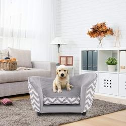 Ultra Plush Snuggle Soft Warm Dog Sleeping Bed with Cushion