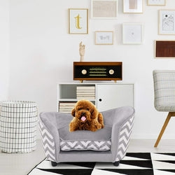 Image of Ultra Plush Snuggle Soft Warm Dog Sleeping Bed with Cushion