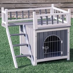 Two Sizes Wooden Pet House Dog Cat Puppy Room