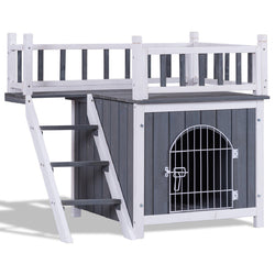 Image of Two Sizes Wooden Pet House Dog Cat Puppy Room