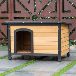 Image of Wooden Extreme Weather Resistan Dog House Pet Shelter
