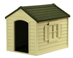 Image of Medium Size Outdoor Resin Construction Snap Together Dog House