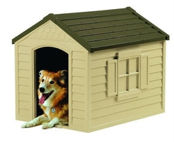Medium Size Outdoor Resin Construction Snap Together Dog House