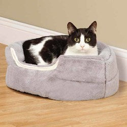 Image of Slumber Pet Cuddler Dog Bed - Gray