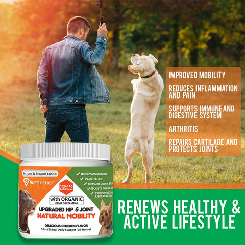 Image of Hero Mobility Dog Glucosamine Chondroitin Natural Joint Health (Soft Chews)