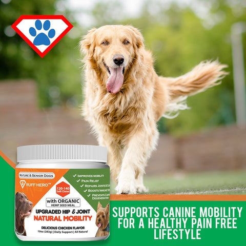 Hero Mobility Dog Glucosamine Chondroitin Natural Joint Health (Soft Chews)