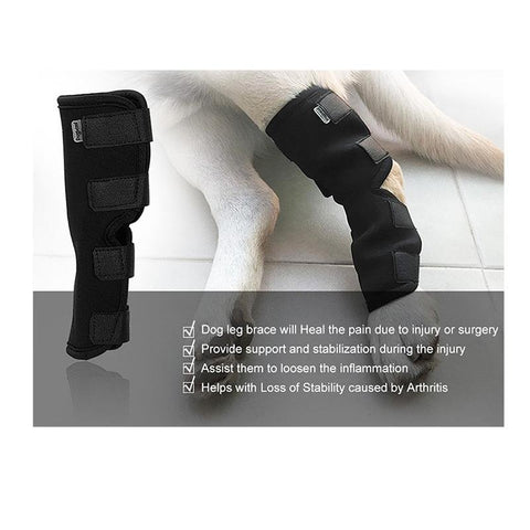 Image of Dog Rear Leg Knee Brace Wrap For Pain And Mobilty Issues