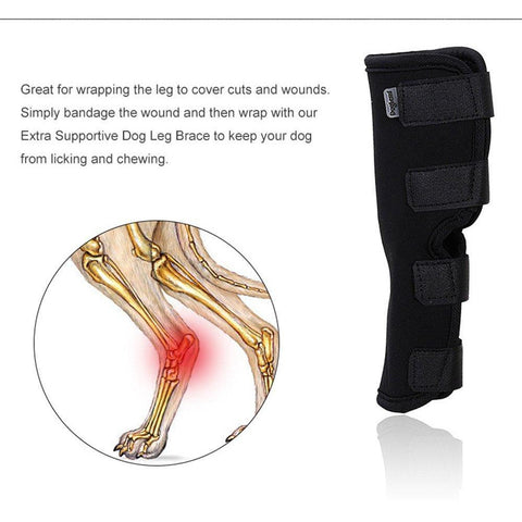 Dog Rear Leg Knee Brace Wrap For Pain And Mobilty Issues