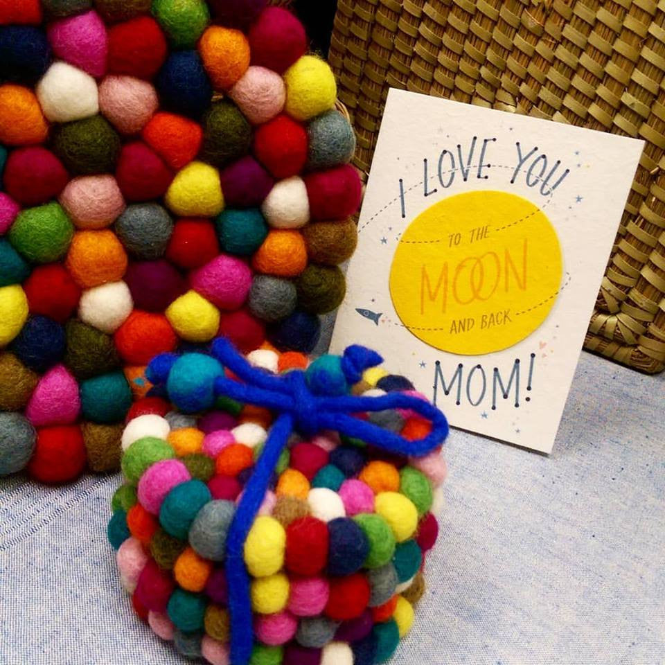 Vibrant Felt Trivets Brighten Your Mother's Day!