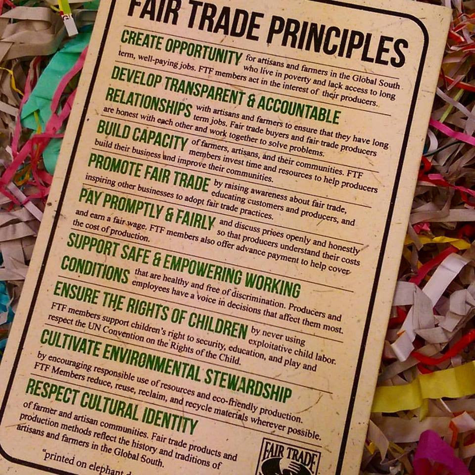 Global Gifts at Nora: Fair Trade Principles