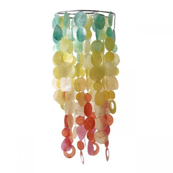 Fiesta Chandelier - Large Capiz Chime